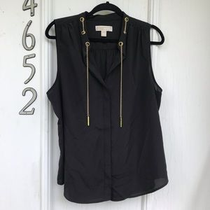 MICHAEL Michael Kors Sleeveless Chain Blouse